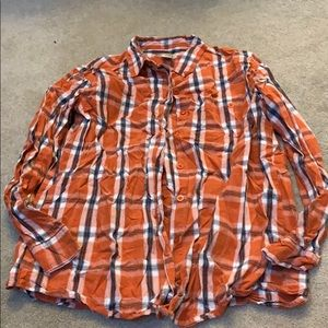 orange and blue flannel